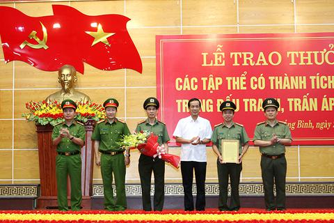 Phá nhiều vụ án, chuyên án lớn, Công an Quảng Bình được khen thưởng