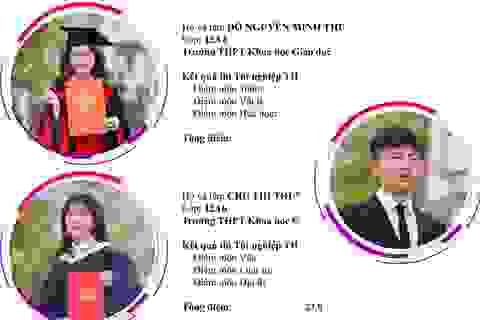 """""""Điểm danh"""" 10 gương thí sinh tiêu biểu của trường THPT Khoa học Giáo dục"""