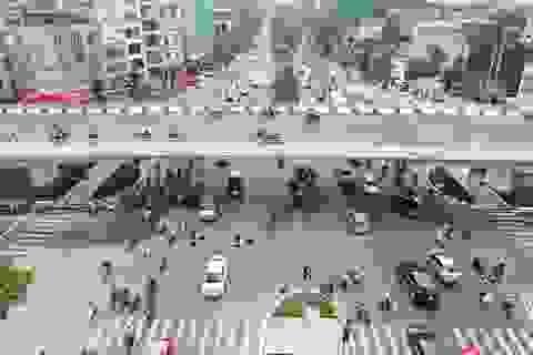 Thông xe cầu vượt quy mô lớn nhất Hà Nội