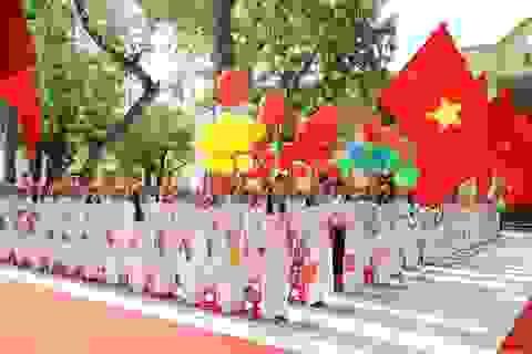 Thanh Hóa: Khối tiểu học khai giảng qua hệ thống loa truyền thanh trường
