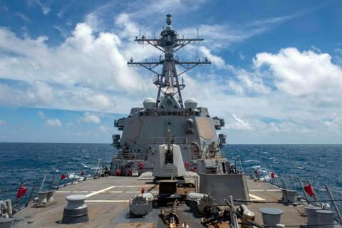 Tàu chiến thứ 2 của Mỹ áp sát Đài Loan trong 2 tuần