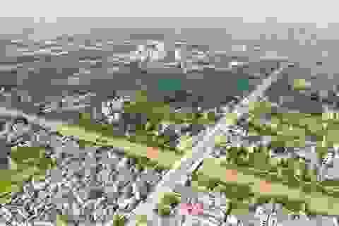 Cận cảnh đường nối ĐH Mỏ - Địa chất vào KCN Nam Thăng Long sắp hoàn thành