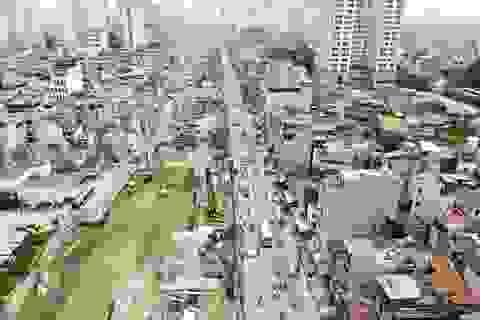 Hà Nội: Toàn cảnh công trường đường vành đai 2 đoạn Minh Khai – Đại La