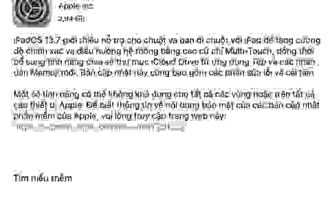 Apple chính thức phát hành iOS 13.7 và iPadOS 13.7