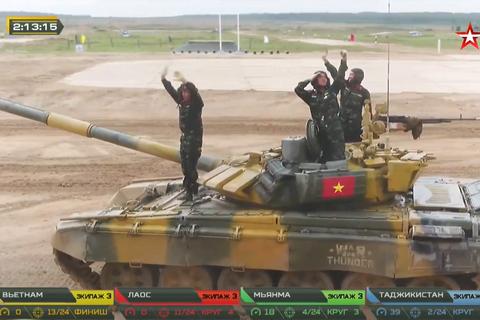 Đội xe tăng Việt Nam thi đấu xuất sắc, về nhất tại chung kết Army Games