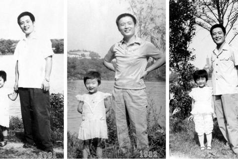 Bố và con gái chụp ảnh cùng nhau tại một địa điểm suốt 40 năm