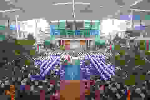 Lễ khai giảng đáng nhớ của ngôi trường có 80% học sinh đỗ chuyên cấp 3