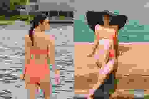 """""""Bà mẹ hai con"""" Phạm Quỳnh Anh khoe dáng quyến rũ với bikini"""