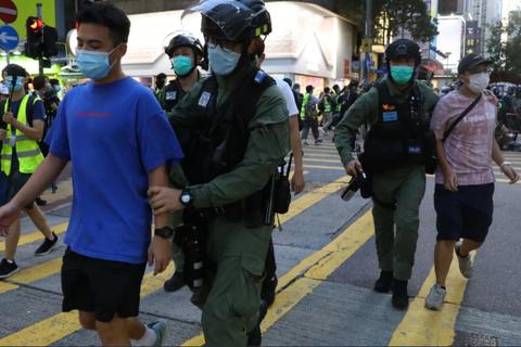 90 người bị bắt trong biểu tình tại Hong Kong