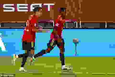 Sergio Ramos và Fati tỏa sáng, Tây Ban Nha thắng đậm Ukraine