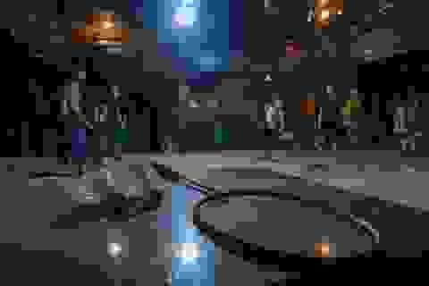 Đóng cửa vì dịch Covid-19, quán bar ở Hà Nội trở thành sân cầu lông