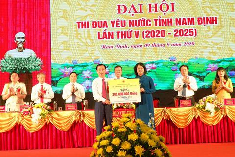 Phó Chủ tịch nước dự Đại hội thi đua yêu nước tỉnh Nam Định