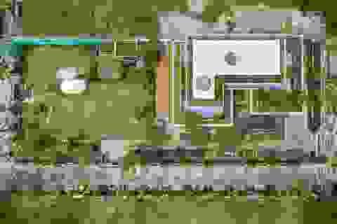Choáng ngợp biệt phủ gần 2000 m2 có cả công viên trên sân thượng ở Cần Thơ