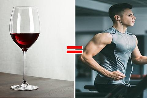 Lợi ích đặc biệt của rượu vang đỏ: Uống 1 ly tương đương 1 giờ tập gym