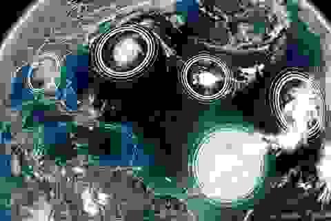 Lần thứ hai trong lịch sử 5 cơn bão xuất hiện đồng thời ở Đại Tây Dương