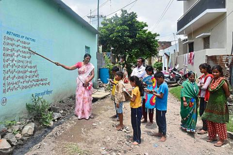Ấn Độ: Những lớp học ngoài trời thời Covid-19