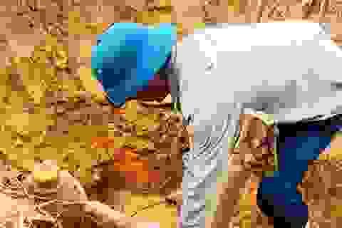 Phát hiện quả bom nặng hơn 1 tạ dưới ruộng lúa