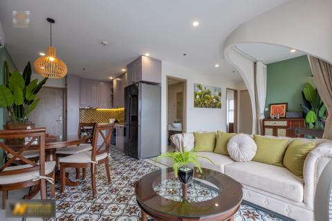 Mê mẩn với căn hộ 74m² mang phong cách Đông Dương