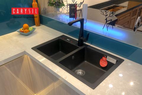 Chậu đá granite Carysil phù hợp cho các thiết kế bếp chung cư