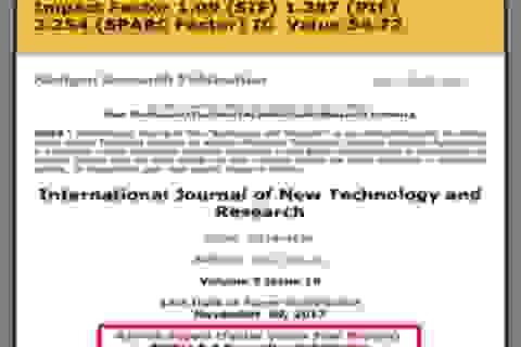 Xét giáo sư, phó giáo sư 2020: Kiểm tra chất lượng từng bài báo quốc tế