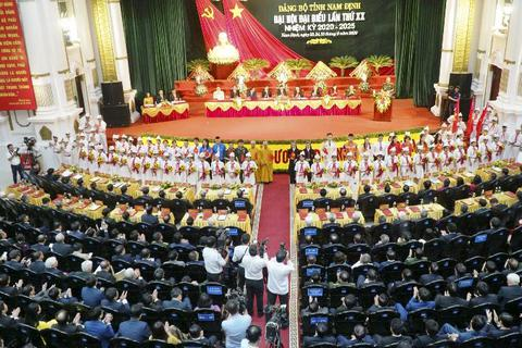 Bế mạc Đại hội đại biểu Đảng bộ tỉnh Nam Định lần thứ XX