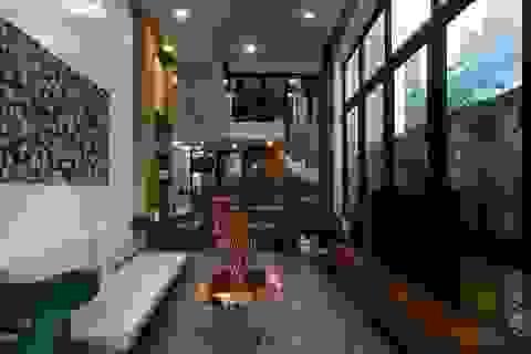 Ngôi nhà ở Sài Gòn xây trên đất méo gây ấn tượng vì thiết kế đẹp không ngờ