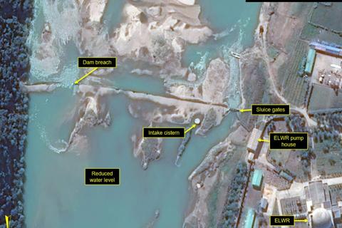 Vỡ đập gần tổ hợp hạt nhân của Triều Tiên