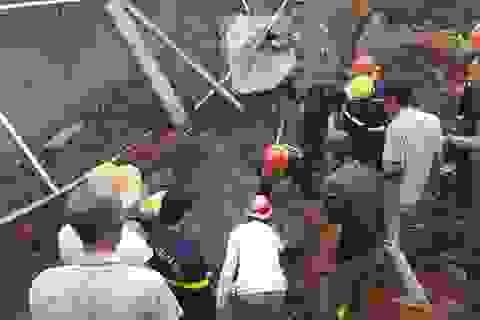 Công an thông tin vụ sập bờ kè của Phòng CSGT làm 1 người chết