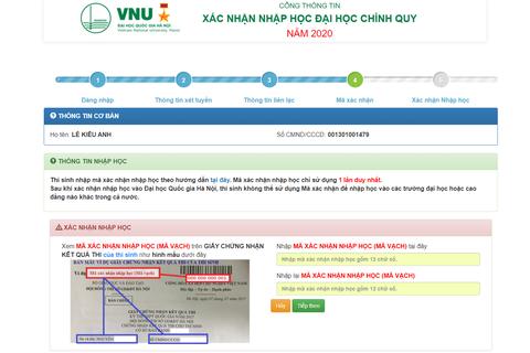 ĐH Quốc gia Hà Nội: Thí sinh nhập học trực tuyến, không phải đến trường