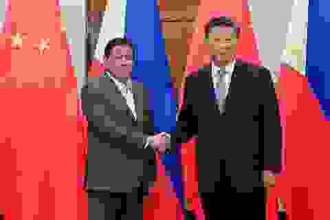 """Trung Quốc nói Philippines """"đồng ý gác lại tranh chấp ở Biển Đông"""""""