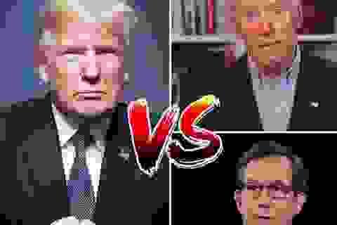 """Ông Trump ám chỉ người """"cầm trịch"""" tranh luận về phe ông Biden"""