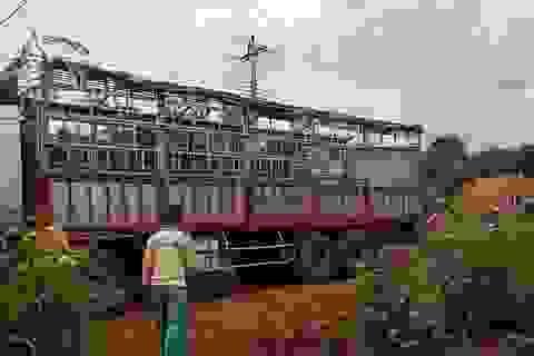 Sửa dây điện bị đứt do xe tải vướng vào, một người bị điện giật tử vong