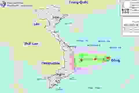 Vùng áp thấp nhiệt đới sẽ gây mưa rất to và kéo dài ở Trung Bộ