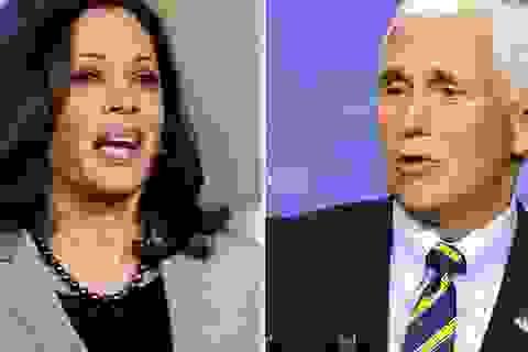 """Màn """"so găng"""" quan trọng chưa từng có giữa 2 """"phó tướng"""" Pence - Harris"""