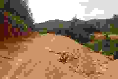 """Bình Định: Tự ý san ủi, mở đường """"đe doạ"""" hồ thủy lợi, người dân hoang mang"""