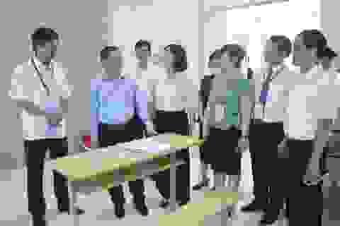 Thứ trưởng Lê Tấn Dũng kiểm tra công tác tổ chức thi kỹ năng nghề Quốc gia