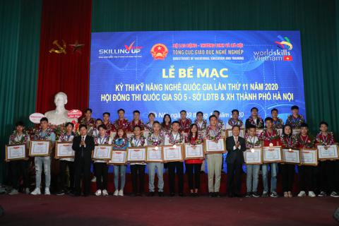 30 Huy chương vàng được trao tại Hội đồng thi kỹ năng nghề số 5