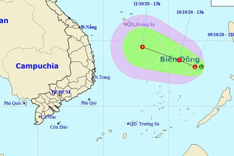 Xuất hiện vùng áp thấp trên Biển Đông, miền Trung tiếp tục mưa lớn