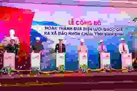 Hơn 600 hộ dân xã đảo Nhơn Châu được phủ điện lưới quốc gia