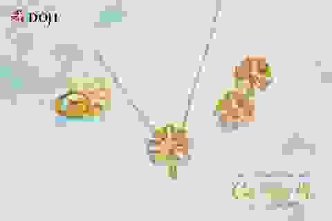 Hàng ngàn quà tặng hấp dẫn khi mua Trang sức Vàng 24K DOJI dịp 20/10
