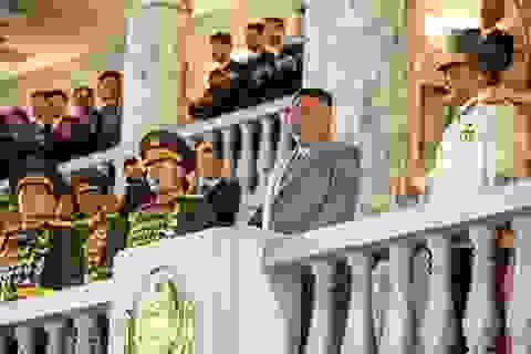 Hàng chục nghìn người Triều Tiên đồng diễn sau lễ duyệt binh trong đêm