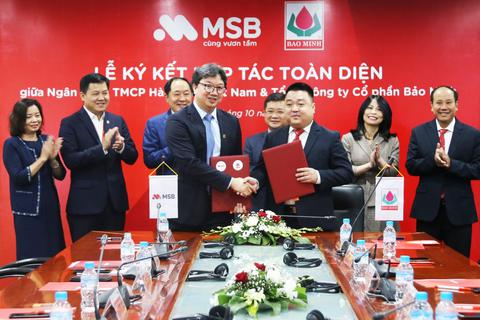 Bảo Minh ký kết hợp tác toàn diện với Ngân hàng TMCP Hàng hải Việt Nam