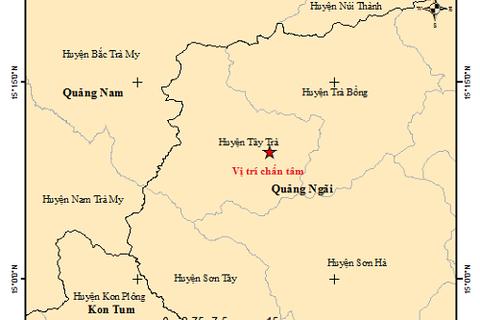 Quảng Ngãi: Một ngày xảy ra 4 trận động đất