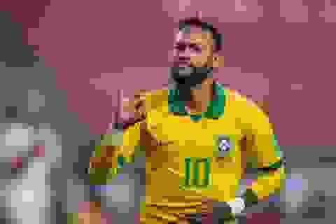 """Neymar vượt mặt Ronaldo """"béo"""", chỉ còn kém Vua bóng đá Pele"""