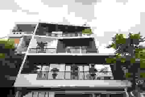 Độc lạ ngôi nhà có mặt tiền hình phễu, nổi bật nhất khu phố ở Hải Dương