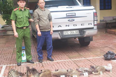 Bắt tài xế xe bán tải vận chuyển 8 cá thể động vật hoang dã