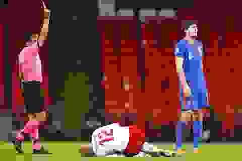 Maguire bị đuổi, tuyển Anh thua đau trước Đan Mạch