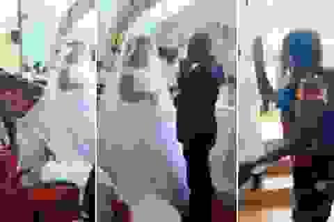 Vợ địu con đến phá đám cưới của chồng và nhân tình