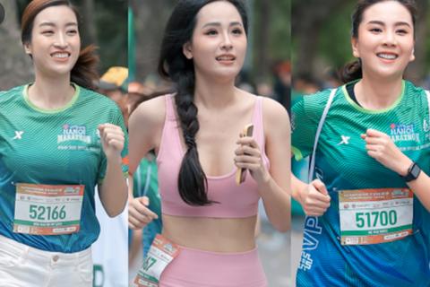 Hoa hậu Mai Phương Thuý nổi bật khi chạy cùng dàn người đẹp, nghệ sĩ