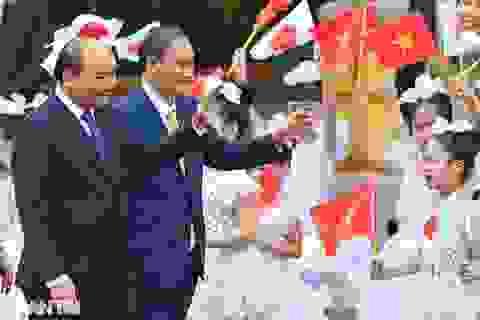 Lễ đón chính thức Thủ tướng Nhật Bản Suga Yoshihide và phu nhân tại Hà Nội